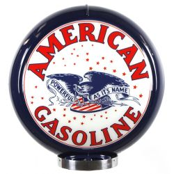 Globe de pompe à essence American Gasoline