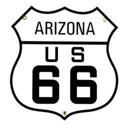 Plaque émaillée Arizona US 66