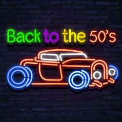 Neon BACK TO THE FIFTIES CAR