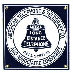 Plaque émaillée Bell System