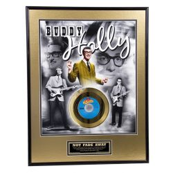 "Record D'or de 24 Karat - Buddy Holly ""Not Fade Away"""