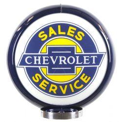 Globe de pompe à essence Chevrolet Sales Service
