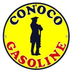 Plaque émaillée Conoco Gasoline