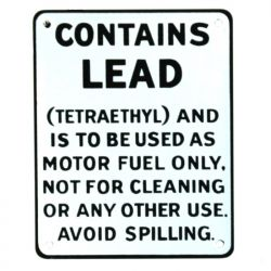 Plaque émaillée Contains Lead