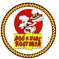 Plaque émaillée Dog 'n Suds Root Beer