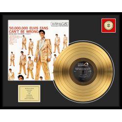 "Record D'or de 24 Karat - Elvis Presley ""50 Million Fans"""
