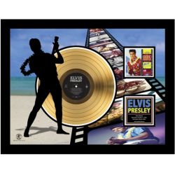 "Record D'or de 24 Karat - Elvis Presley ""Blue Hawaï Etched"""