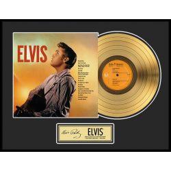 "Record D'or de 24 Karat - Elvis Presley ""Gold LP LE 2500"""