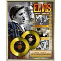 "Record D'or de 24 Karat - Elvis Presley ""Hound Dog - Don't Be Cruel"""