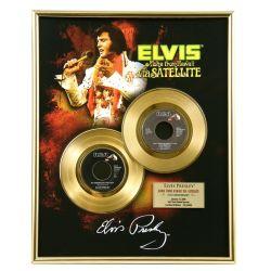 "Record D'or de 24 Karat - Elvis Presley ""Via Satellite"""
