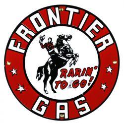 Plaque émaillée Frontier Gas