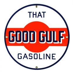 Plaque émaillée Gulf Gasoline