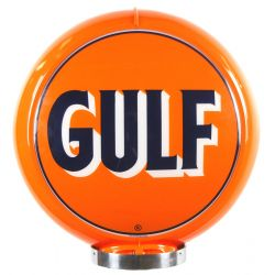Globe de pompe à essence Early Gulf Logo