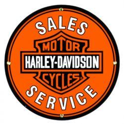 Plaque émaillée Harley Davidson