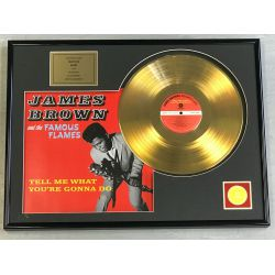 "Record D'or de 24 Karat - JAMES BROWN  ""TELL ME WHAT YOU'RE GONNA DO"""