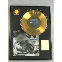 "Record D'or de 24 Karat - JAMES DEAN ""THE JAMES DEAN STORY"""