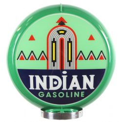 Globe de pompe à essence Indian Gasoline