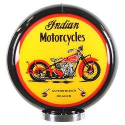 Globe de pompe à essence Indian Motorcycles Black