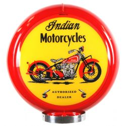 Globe de pompe à essence Indian Motorcycles Red