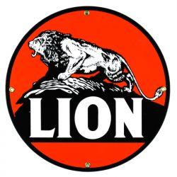 Plaque émaillée Lion