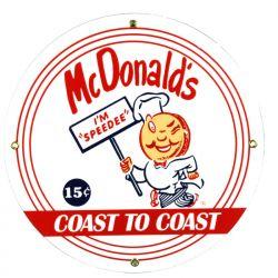 Plaque émaillée McDonalds
