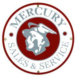 Plaque émaillée Mercury