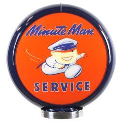 Globe de pompe à essence Minute Man Service