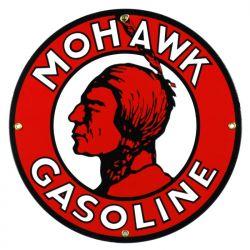 Plaque émaillée Mohawk Gasoline