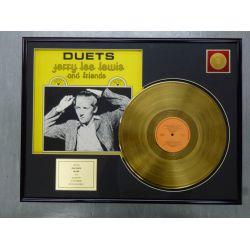 "Record D'or de 24 Karat - JERRY LEE LEWIS ""DUETS"""
