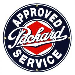 Plaque émaillée Packard Service
