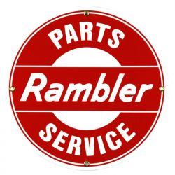 Plaque émaillée Rambler Parts Service