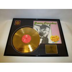 "Record D'or de 24 Karat - Sam Cooke ""What A Wonderful World"""