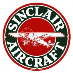 Plaque émaillée Sinclair Aircraft