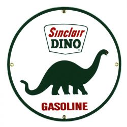 Plaque émaillée Sinclair Dino