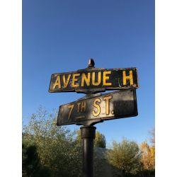 Plaque de rue Américaine