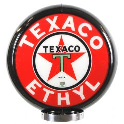 Globe de pompe à essence Texaco Ethyl Black