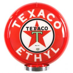 Globe de pompe à essence Texaco Ethyl Red