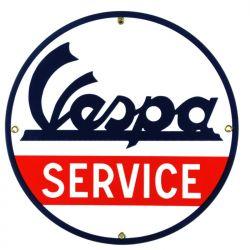 Plaque émaillée Vespa Service