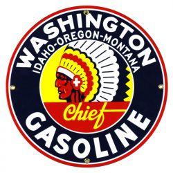 Plaque émaillée Washington Gasoline