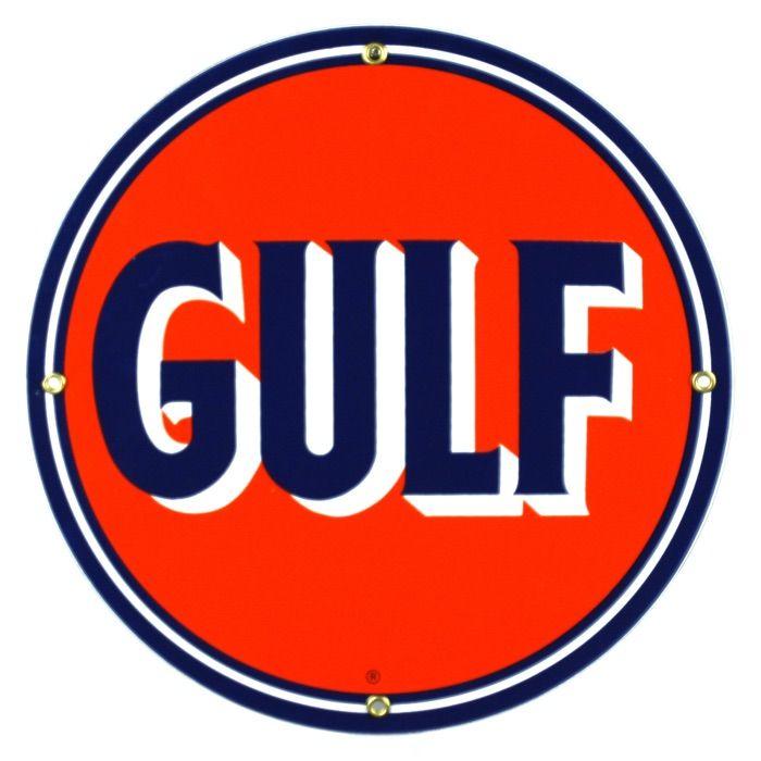 Plaque émaillée Gulf