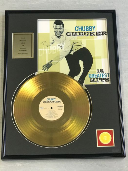 "Record D'or de 24 Karat - CHUBBY CHECKER ""16 GREATEST HITS"""