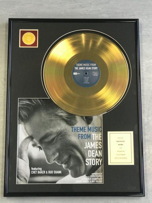 "Record D'or de 24 Karat - JAMES DEAN ""THE JAMES DEAN STORY"""