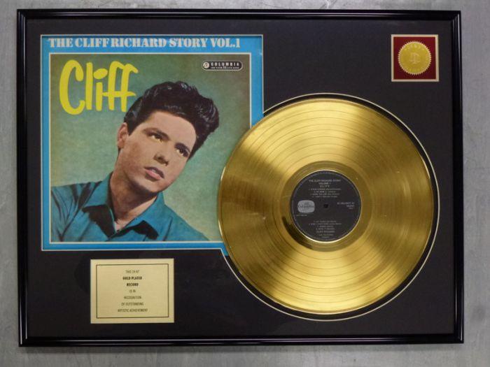 "Record D'or de 24 Karat - Cliff Richard ""THE CLIFF RICHARD STORY"""
