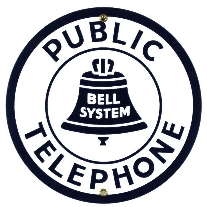 Plaque émaillée Public Telephone