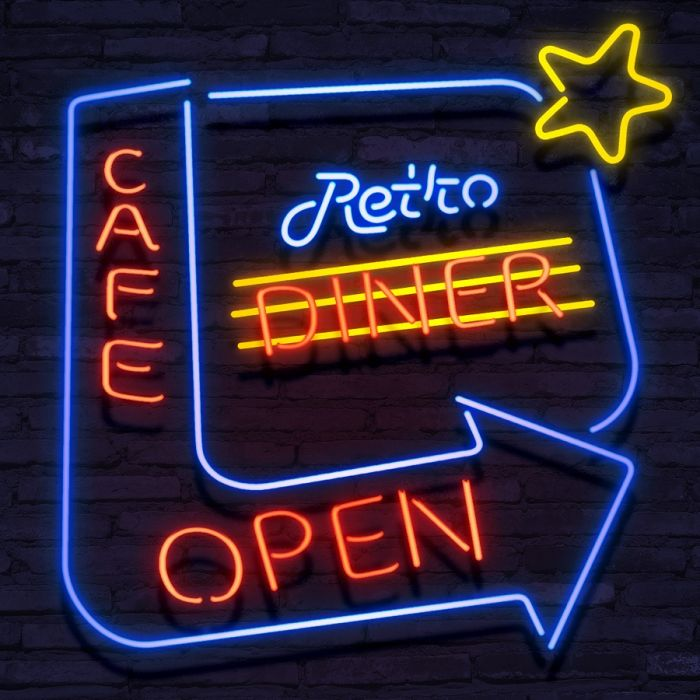 Neon Retro Diner Open